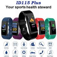 ID115 PLUS Akıllı İzle Spor İzleme Akıllı Bilezik Akıllı Bant ile Nabız İçin Elma Android Cep telefonları ile Kutusu