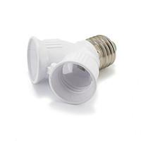 Freeshipping 100pcs E27 E27 Lampenfassung E27 Doppel-Adapter-Konverter Lampensockel Sockel LED-Glühlampe verlängert Stecker