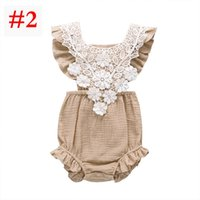 2019 Baby Girls Lace Cotton Bandage Rompers Boutique Summer ...