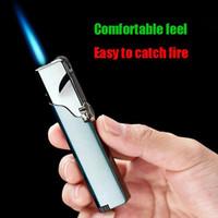 Факел зажигалка шлифовального круга Direct Rotary Switch Персонализированные Творческие металлические ветрозащитный Зажигалки Аксессуары для курения