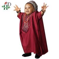 Etnik Giyim HD Hiçbir Cap Afrika Çocuk Giysileri Dashiki Gömlek Pantolon 3 Parça Set Son Erkek Suits 2021 Güney Afrika Çocuklar Kırmızı TZ3062