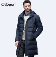 ICEbear Yeni Giyim Ceketler Iş Uzun Kalın Kış Coat Erkekler Katı Parka Moda Palto Giyim 16M298D