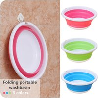 High quality Two color collapsible portable travel washbasin...