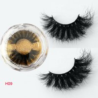25MM long hair lashes custom package box private label 3d mi...