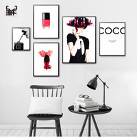 Poster Vintage Canvas Painting Modern Couture Wall Art Livin...