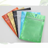 Um Lado Limpar coloridas Resealable Zipper Mylar Bag Folha de alumínio sacos à prova de cheiros bolsas Jóias Phone Case TF Memory Card Bag