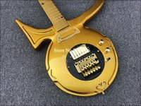 Guitarra eléctrica Guitarra ideal colector Por Jerry Auerswald serie Diamond Príncipe Símbolo del amor de Floyd Rose puente trémolo, Negro golpeador