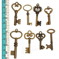 DIY Keys Suspension Mixed Keys Charms Crafts Making Necklace...