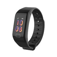 F1 Plus Braccialetti Colore LCD Schermo LCD Fitness Tracker Sleep Sleep SmartBracelet Cardiofrequenzimetro Impermeabile Smart Watch Attività Tracker