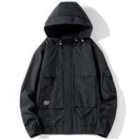 Mens-beiläufige lose schwarze Jacken feste heiße Verkaufs-Fracht Male Jacke Mäntel Herbst-Winter-Mode Tops