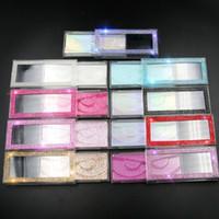 Atacado Retângulo Cílios Embalagem Diamante Glitter cílios postiços embalagem caixa de Bling Esvaziar cílios Caixa Lashes 3D Caixas de embalagem