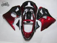 Kits de carénage chinois de haute qualité pour Kawasaki Ninja ZX6R 1998 1999 ZX-6R Red Black Black Fajoutures Bodykit ZX 6R 98 99