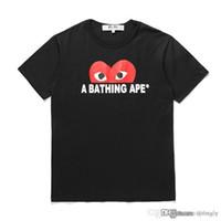 COM toptan En Kaliteli Siyah Bir Yeni Sıcak TATİL OYUN Banyo 1 Ape T-shirt Beyaz Kırmızı Beden L istemi karar