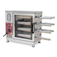 Yeni satılık ticari otomatik elektrikli baca rulo pasta fırını ekmeği rulo makinası fırın baca pasta gelmesi