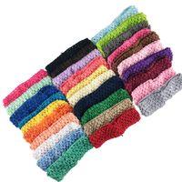 30 ADET Mix Renkler Bebek Şapkalar Kafa Çiçek Saç Aksesuarları Yumuşak Elastik Tığ Bantlar Sıkı Saç Bandı Tabanı