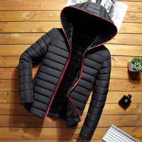 2019 YENİ SICAK satış Erkekler Kalınlaşmak kış ceket palto kapüşonlu GİYİM pamuk kapüşonlu Hoody açık MAN'ın HOMME Doudoune veste Manteau D'hiver