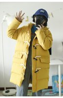 Hooded Women Casual Loose Cotton- padded Coat Yellow Solid Co...