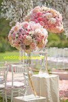 Nieuwe bloemen vazen kaarshouders weg lood tafel middelpunt acryl kristal tribune pilar kandelaar voor bruiloft candelabra decor11145