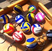 5 개 PC 배구 키 체인 사업 생일 합성 수지 배구 선물 배구 최고 축구 비치 볼 열쇠 고리 가방 펜던트의 매력