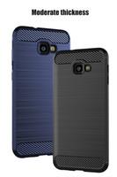 Coque TPU brossé silicone souple de 1,5 mm pour Samsung Galaxy J6 Plus J6 Prime On6 J4 Plus J4 Core J7 Duo J7 Max Couverture en fibre de carbone