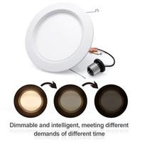 """Downlights Indoor Dimbable E26 6 """"Polegada 14W (Substituição de 75W) 1000 Lumens 2800-3200K White White LED Recesso Retrofit Kit de Iluminação de Retrofit"""