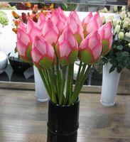 زهرة اصطناعية حية 78CM Artificail الحرير لوتس برعم فندق ومطعم الديكور زهرة اصطناعية بركة محاكاة EEA549 النبات