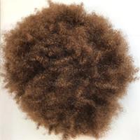 Afro Curly Mens Toupee Indisches Menschenhaar Voll Pu Männer Toupee Verworrene Lockige Toupees Für Schwarze Männer Feine Pu Haarersatz Systemspiec