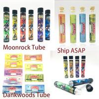 Moonrock Cam Tüp Preroll Ortak Ambalaj Dankwoods Kuru Herb Ambalaj Tüpleri Plastik Kap 120 * 21mm 510 Konu Vape Kartuşları Ambalaj