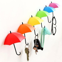 Muro Umbrella gancho Moda Key Pin cabelo Titular Organizer Organizador decorativa colorida suporte em forma guarda-chuva Organizador 3Pcs / Lot