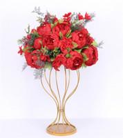 moderno 47cm centri sfera fiore artificiale + 1m peonies tabella nozze arco arredamento accordo forniscono fila fiore bouqet