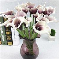 cala artificial de la flor del lirio mano ramo de flores flores de la simulación táctiles decoración de la boda flores falsas fuentes del partido reales LXL382-A