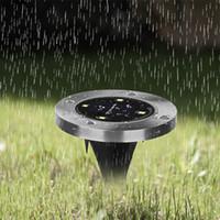 Solarbetriebener Bodenlicht wasserdicht Garten-Weg-Deck-Lichter mit 4 / 8LED-Lampe für Home Yard-Fahrstraße Rasenstraße Meer85439