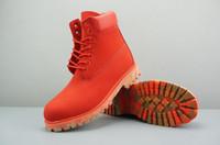 Hot Sale- mens femmes bottes d'hiver châtaignier noir blanc rouge vert casual bottes Martin bottes de randonnée chaussures de sport Garder au chaud la taille de bottes taille 5.5-12
