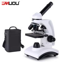 Livraison gratuite 40X-1600X Professionnel Monoculaire USB Microscope biologique Full Metal Haute Qualité HD Laboratoire Professionnel Étudiants cadeau Led