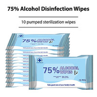 10sheets Pack Alcohol Wet Wipes Disinfection Portable Alcoho...