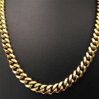 Кубинская Сеть / Змеи Chain18K золото fiiled цепи ожерелья для мужчин женщин, W: 9 мм; Длина 50-70см