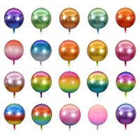 Renk geçişi Renkler Dekoratif Balon Alüminyum Film Kırışıklık Tasarım Gökkuşağı Balonlar Fit Mezuniyet parti dekor 22 İnç 1 8JE E19