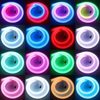 LED волшебный цвет гибкая силиконовая неоновая трубка внешний контроль встроенный ic полный чеканка цветной цифровой пиксель неоновые полосы света 12 В