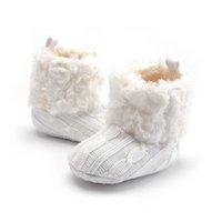 الدافئة أحذية فتاة طفل صبي الكروشيه حك الصوف الصوف التمهيد الثلج سرير أحذية الشتاء الجوارب