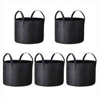 Grosso Frete grátis 5x Crescer sacos de tecido Pots Root bolsa com alças Flor Vege Plantio Container