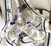 Frühling und Herbst 2020 Neue Mode Nautische Nachahmung Seide Kleine Quadratischer Schal Dekorativer Schal Sommer Sonnencreme Schal Schal Schal