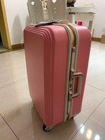 Aluminum frame pull- rod box universal wheel 24- inch suitcase...