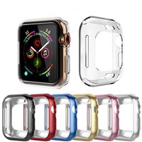 Delgado cubierta de reloj de TPU para Apple Watch 4/3/2/1 40mm 44mm estuche 360 ​​grados Soft Clear Gel Electroplat Case Protector de pantalla para iWatch 4 42 38mm