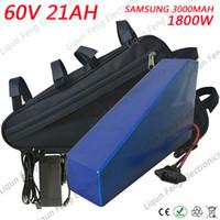 60V utiliza la batería del triángulo de litio de la célula de Samsung 60v 20ah batería de bicicleta eléctrica 60V 2500W batería de scooter eléctrico con cargador.