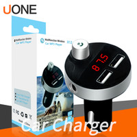 X12 Dual USB Port drahtloses Bluetooth bewegliches 2.1A Travel Car Kit Charger FM Transmitter Adapter für iphone 11 Pro Max Samsung mit Paket