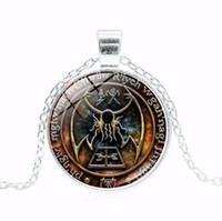 Schmuck R'lyeh Sigil Halskette lange Pullover Halskette Zeit Opal Halskette für Unisex heiße Art und Weise