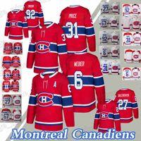 Montreal Canadiens Trikots 31 Carey Price 6 Shea Weber 27 Alex Galchenyuk 92 Jonathan Drouin Hockey Jersey