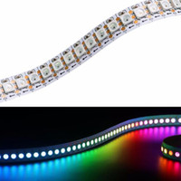 WS2812B Dirección individual LED RGB LED Luz de tira flexible 5050 SMD IP30 / IP65 impermeable DC5V blanco / PCB negro