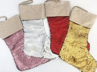 Christmas Stocking High Quality Bling Bling Santa Socks Deco...