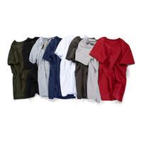 Yaz yeni düz renk kısa kollu tişört erkek pamuklu dibe gömlek boş tişört reklam gömlek (50 adet özelleştirilebilir)
